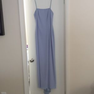 Y2K Formal slip periwinkle dress